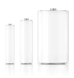 White battery template vector