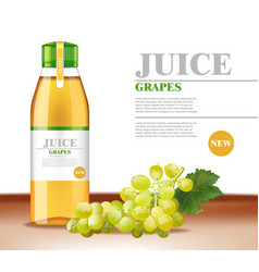 white grapes juice realistic product vector image