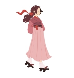 a japanese geisha vector image vector image