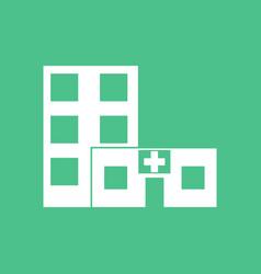 Icon hospital building vector
