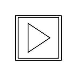 play button icon vector image