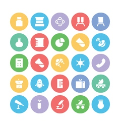 Science Colored Icons 5 vector image vector image