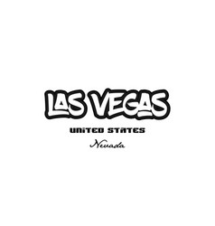 united states las vegas nevada city graffitti vector image