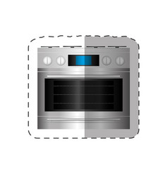 electric oven appliance home cut line vector image vector image