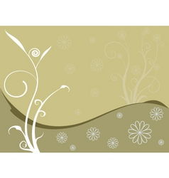 Floral brownie vector