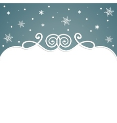 frame christmas background with snowflakes vector image vector image