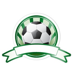soccer emblem vector image vector image