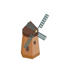 Windmill icon isometric 3d style vector image vector image