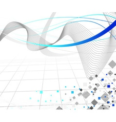 connection lines vector image