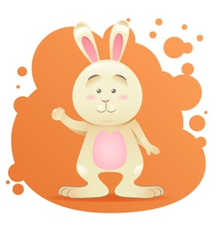 Cute cartoon bunny toy card vector image