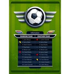 Grunge football background vector image