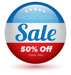 Sale red text design vector image