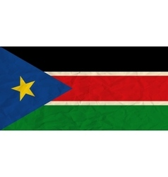 South Sudan paper flag vector image vector image