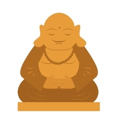 Buddha religion statue thailand meditation culture vector image