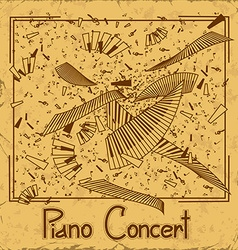 Invitation to piano concert vector image vector image