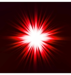 Light flare red effect vector image vector image