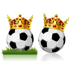 soccer ball with a golden crown vector image vector image
