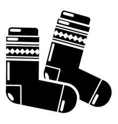 socks icon simple black style vector image