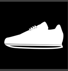 sport shoes the white color icon vector image
