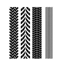 tire track brush seamless border vector image vector image