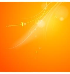 Warm sun light vector image vector image