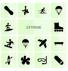 14 extreme icons vector