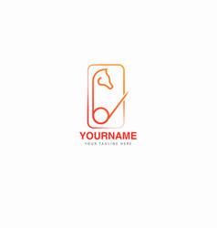 abstract elegant horsing logo design icon symbol vector image