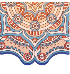 Abstract mandala design pink tone image vector