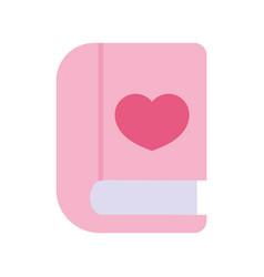 Back to school education book literature love icon vector