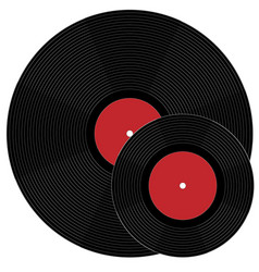Big and minion phonograph records vector