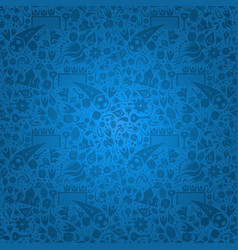 Blue russia background with russian icons vector