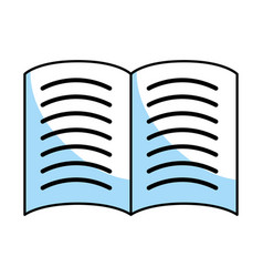 book isolated icon vector image