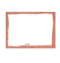 Bronze grunge frame vector