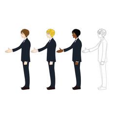 business man hand shake vector image vector image