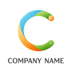 c letter colorful logo vector image
