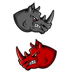 Cartoon rhino characters vector image
