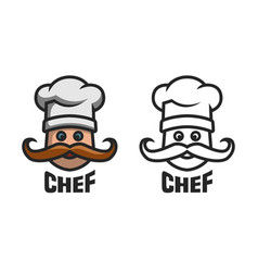 chief logo two options vector image
