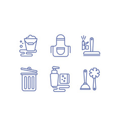 cleaning service icons set washing and tidying vector image