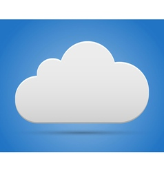 Cloud on sky vector image
