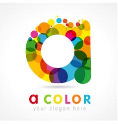 colored a logo concept vector image