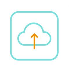 concept icon application for cloud data saving vector image