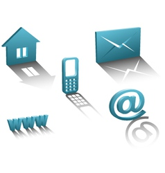 contact info icons vector image