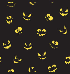 creepy faces seamless background vector image