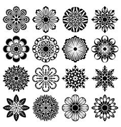 Decor flowers set vector