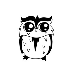 doodle owl character vector image