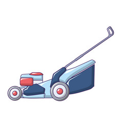 Farm grass cut machine icon cartoon style vector