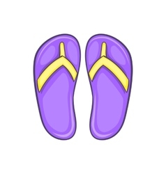 Flip flop sandals icon cartoon style vector image