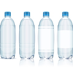 Four Plastic Bottles with Generic Labels vector