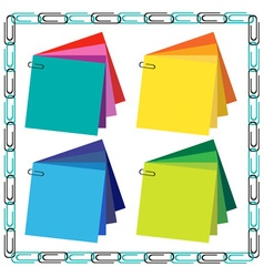 frame and paper clips vector image