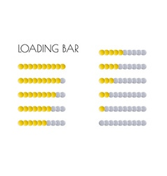 Gold loading bars vector
